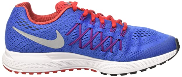 Amazon.com | Nike Zoom Pegasus 32 (GS) Running Trainers 759968 Sneakers Shoes (4.5 Big Kid M, Racer Blue Metallic Silver 404) | Fashion Sneakers