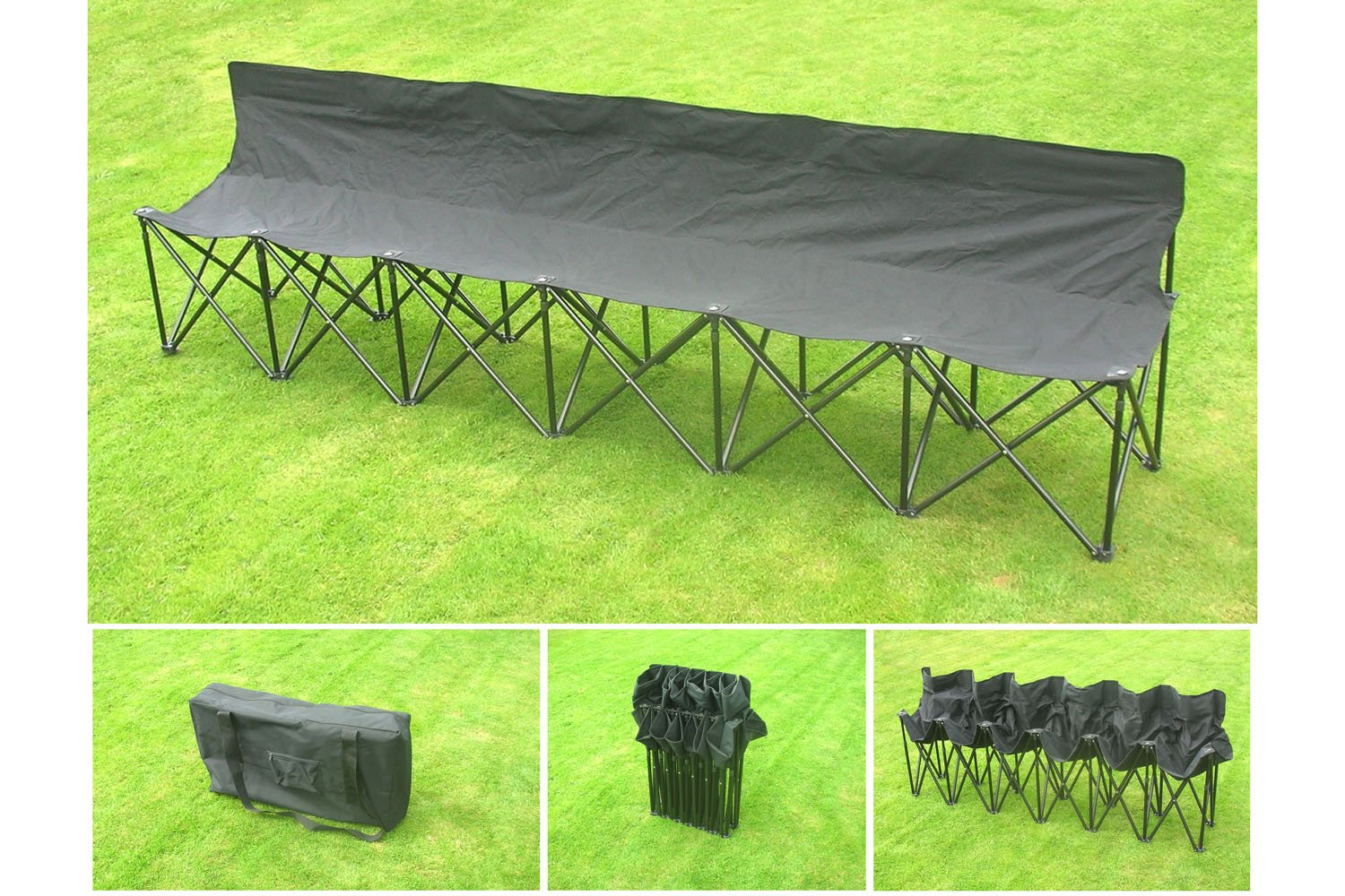 Deluxe Quality Samba Sports 6-Seater Folding Portable Bench with Free Shipping