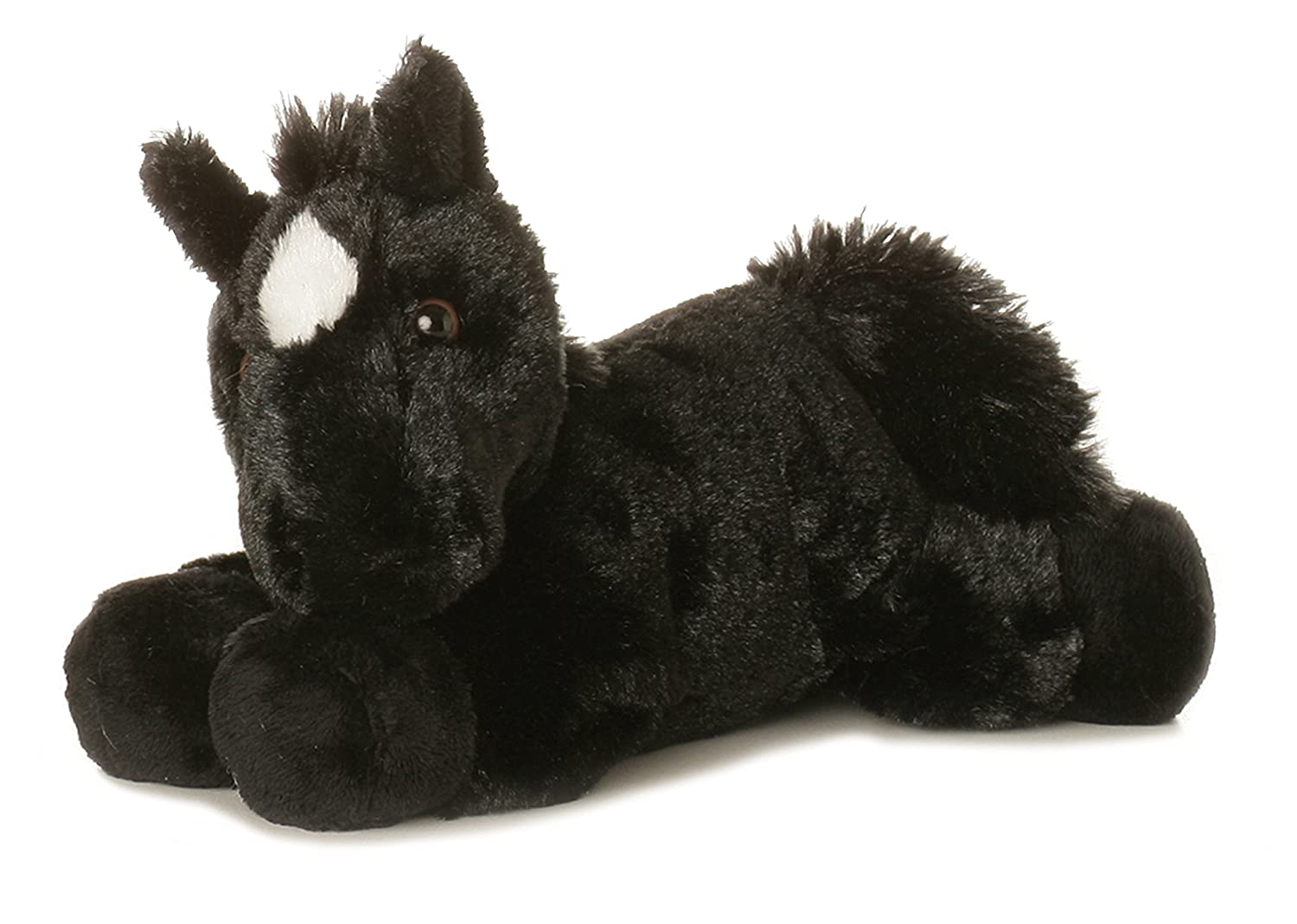 "Beau Black Horse 8"" Mini Flopsie Stuffed Animal Aurora AW16640"