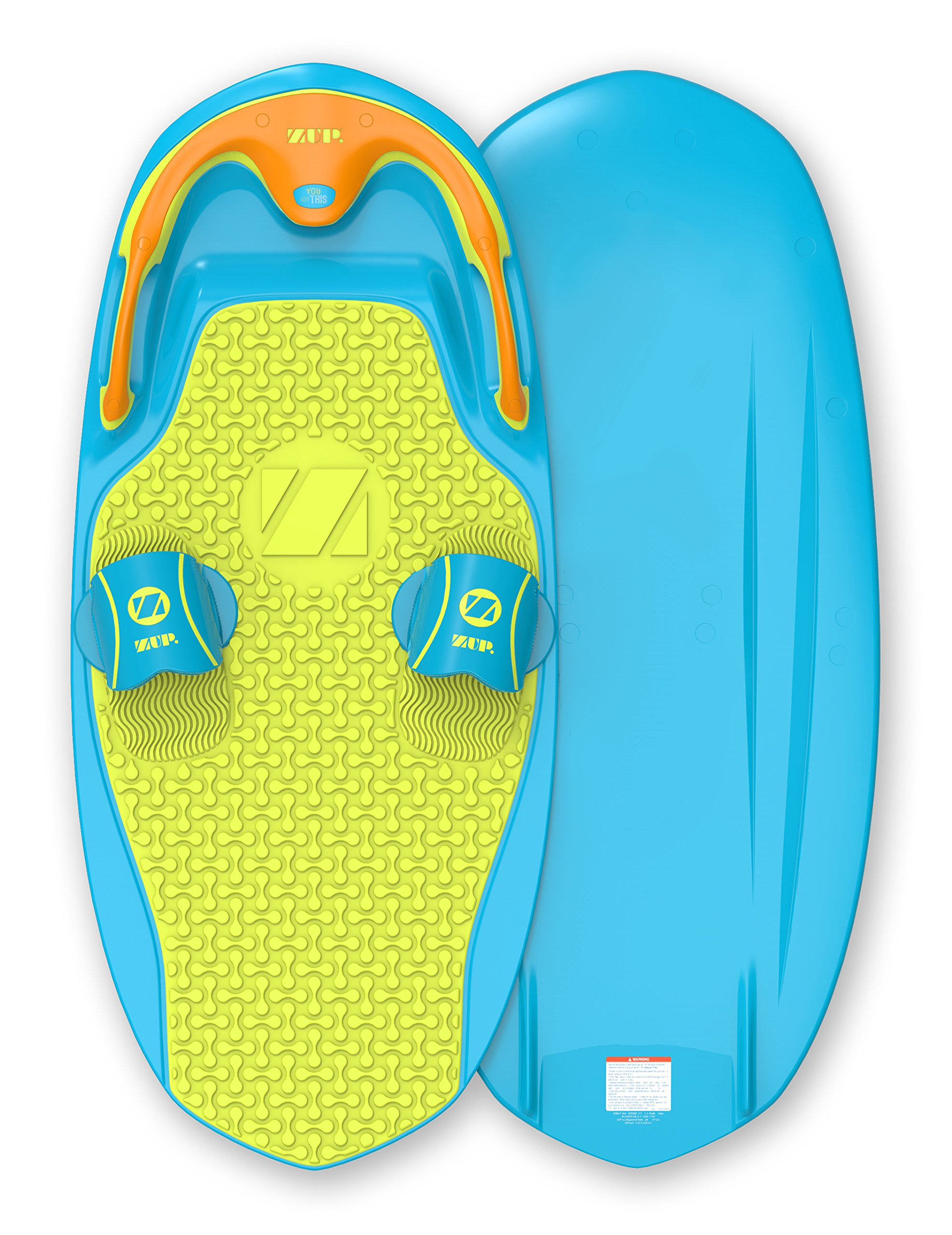 ZUP You Got This 2.0 Board, All-in-One Kneeboard, Wakeboard, Wakeskate, and Wakesurf Board for All Ages, Blue by ZUP