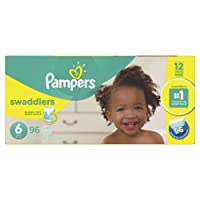 Pampers Swaddlers Disposable Baby Diapers Size 6, Economy Pack Plus, 96 Count