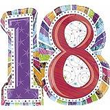 "Anagram International Radiant Birthday 18 Foil Balloon, 28 by 26"", Multicolor"