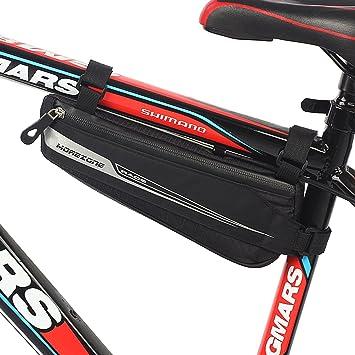 Bolsa Bicicleta MOREZONE Bolsa Triángulo Bici Material Jacquard Bolsa Tubo Bicicleta Impermeable