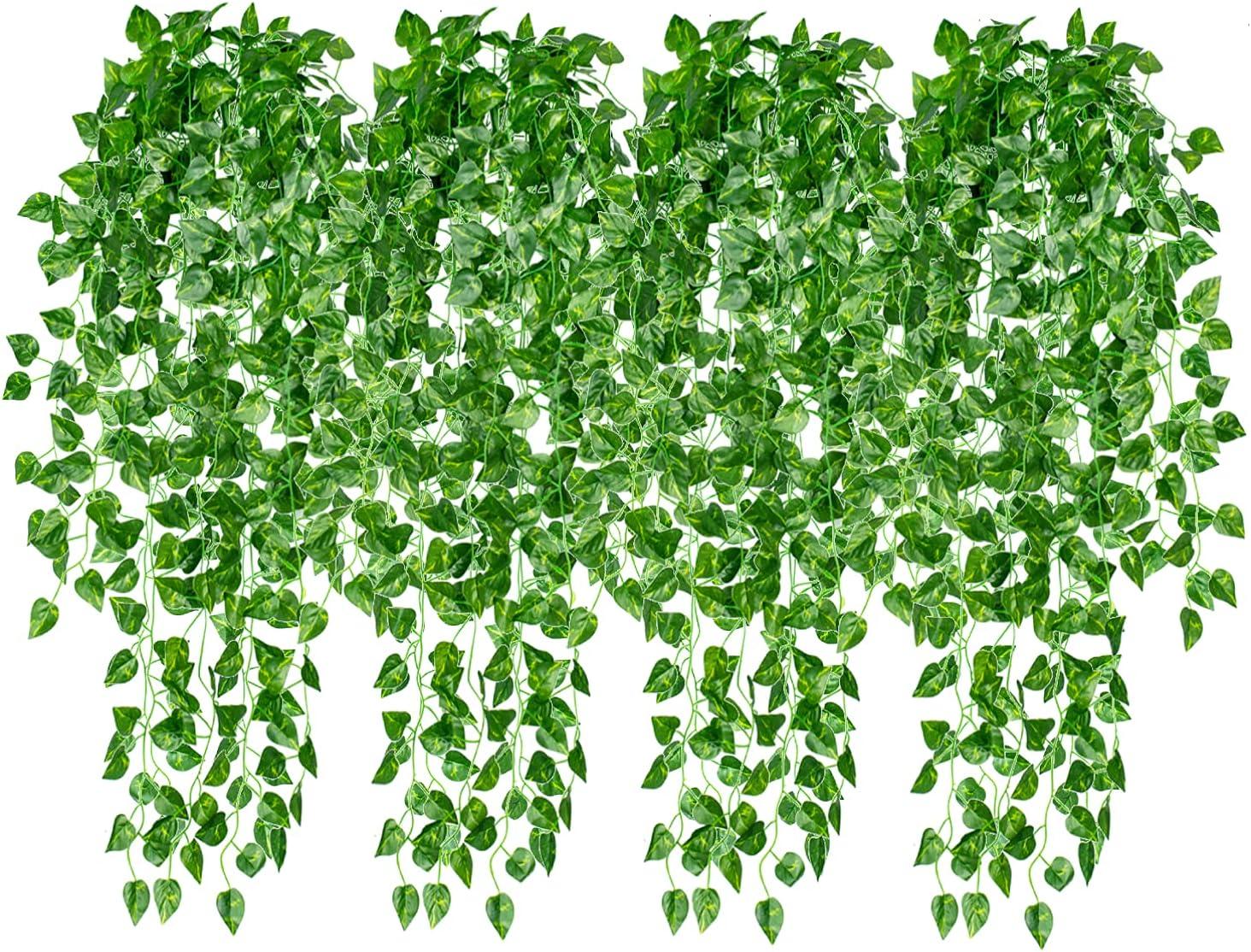 4 Pcs Artificial Hanging Plants 35.4