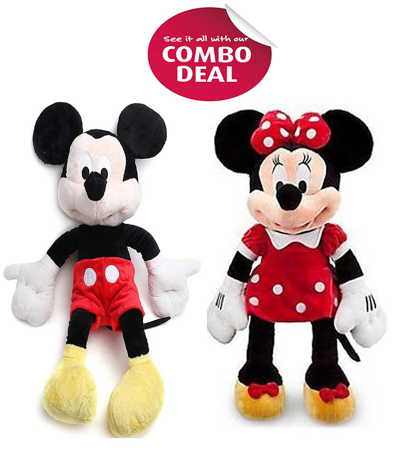 36f616120d6 Buy cips Mickey Mouse Minnie Mouse Soft Toy Teddy Bear(12-inch 30cm)   Online at Low Prices in India - Amazon.in