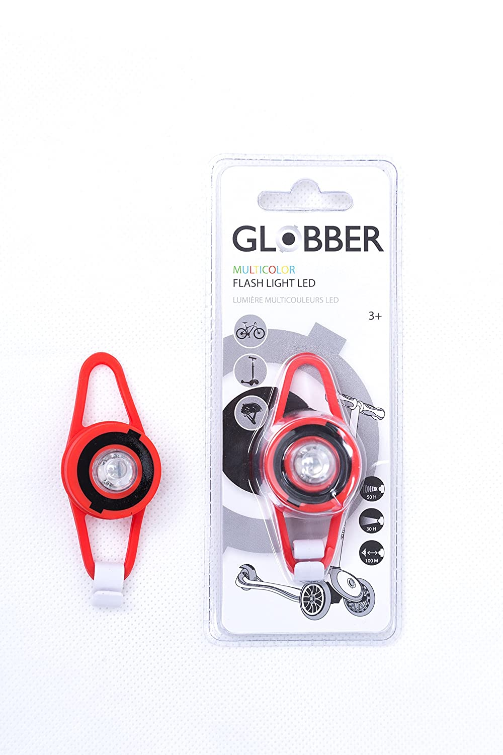 authentic sports & toys GmbH globber Flash Light LED Rose Taille Unique GLOOF|#Globber 522-110