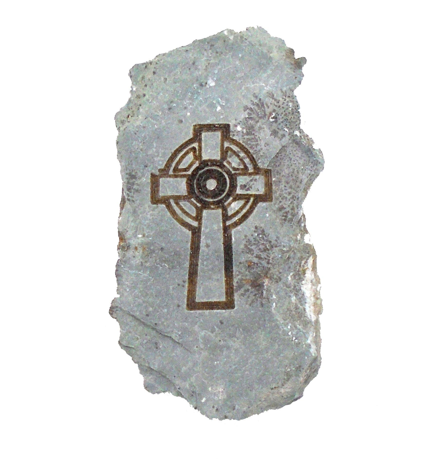 Engraved Irish Stone ''Celtic Cross''