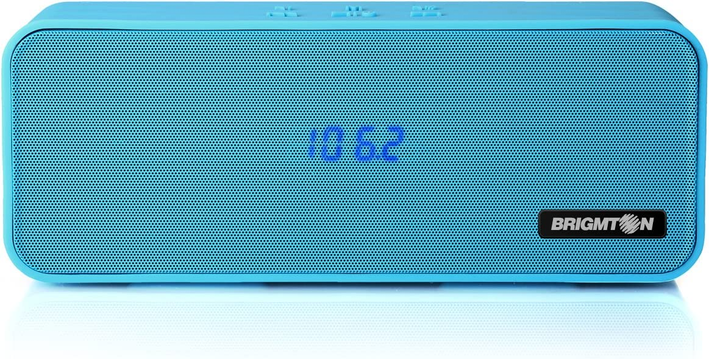 Brigmton BAMP-700-A - Altavoz portátil Bluetooth (reproducción de mp3, funcionamiento batería)