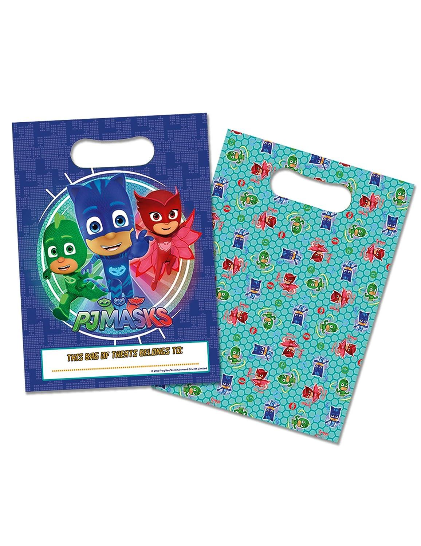 8 Bolsas de regalos azules PJ Masks 16.5 x 23 cm