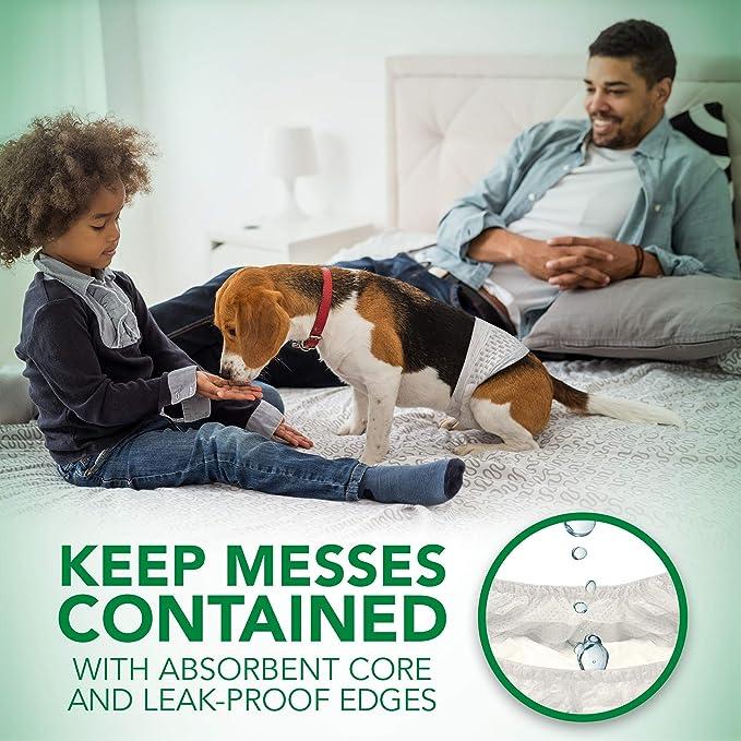 Vets Best - Pañales desechables para perro con indicador de humedad de, ajuste confortable, talla S, paquete de 12: Amazon.es: Productos para mascotas