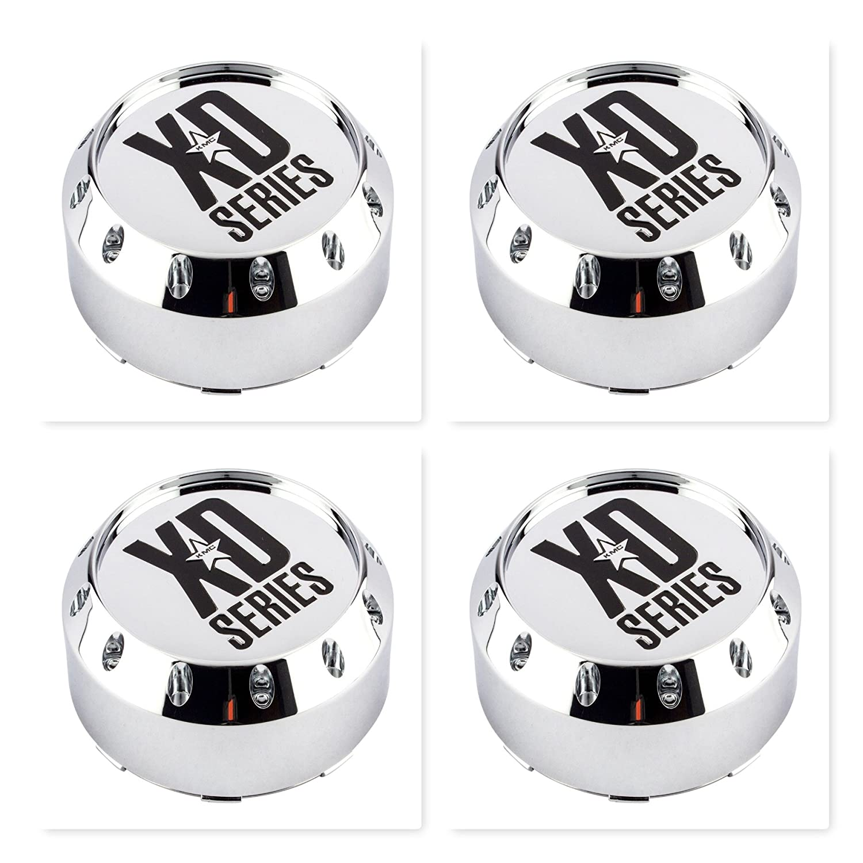 4 Pack KMC XD Series 464K131-2 8 Lug Chrome Wheel Center Cap