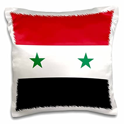 Amazon Com 3drose Flag Of Syria Syrian Red White Black With Two