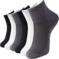 MD 6 Pack Women's and Men's Rayon from Bamboo Quarter Socks