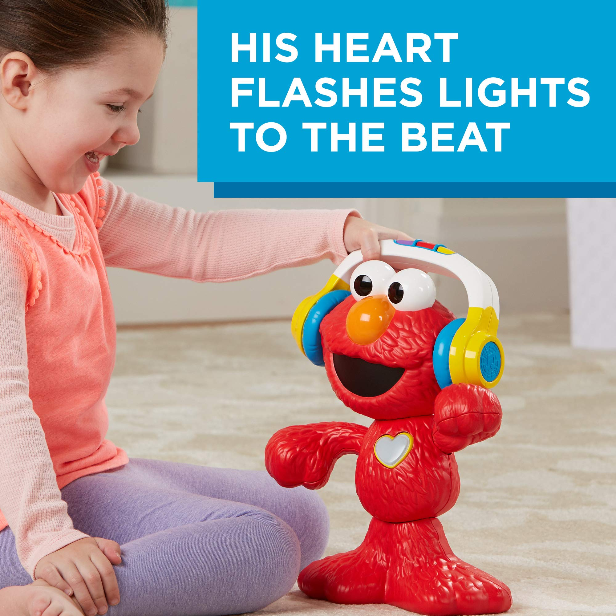 Sesame Street Let's Dance Elmo: 12-inch Elmo Toy that Sings and Dances, With 3 Musical Modes, Sesame Street Toy for Kids Ages 18 Months and Up by Sesame Street (Image #4)