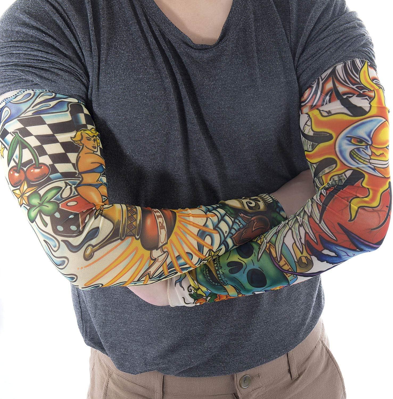Vordas Mangas Tatuadas, 6PCS Tatuajes Temporales Brazo Medias ...