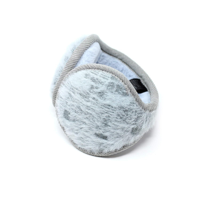 High Desert Gear Unisex Warm Winter Earmuffs Soft Fuzzy Fur Adjustable Knit Outdoor Ear Warmers