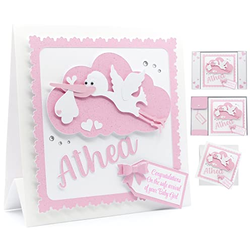 new baby girl card personalised baby boy card 3d handmade stork with baby name