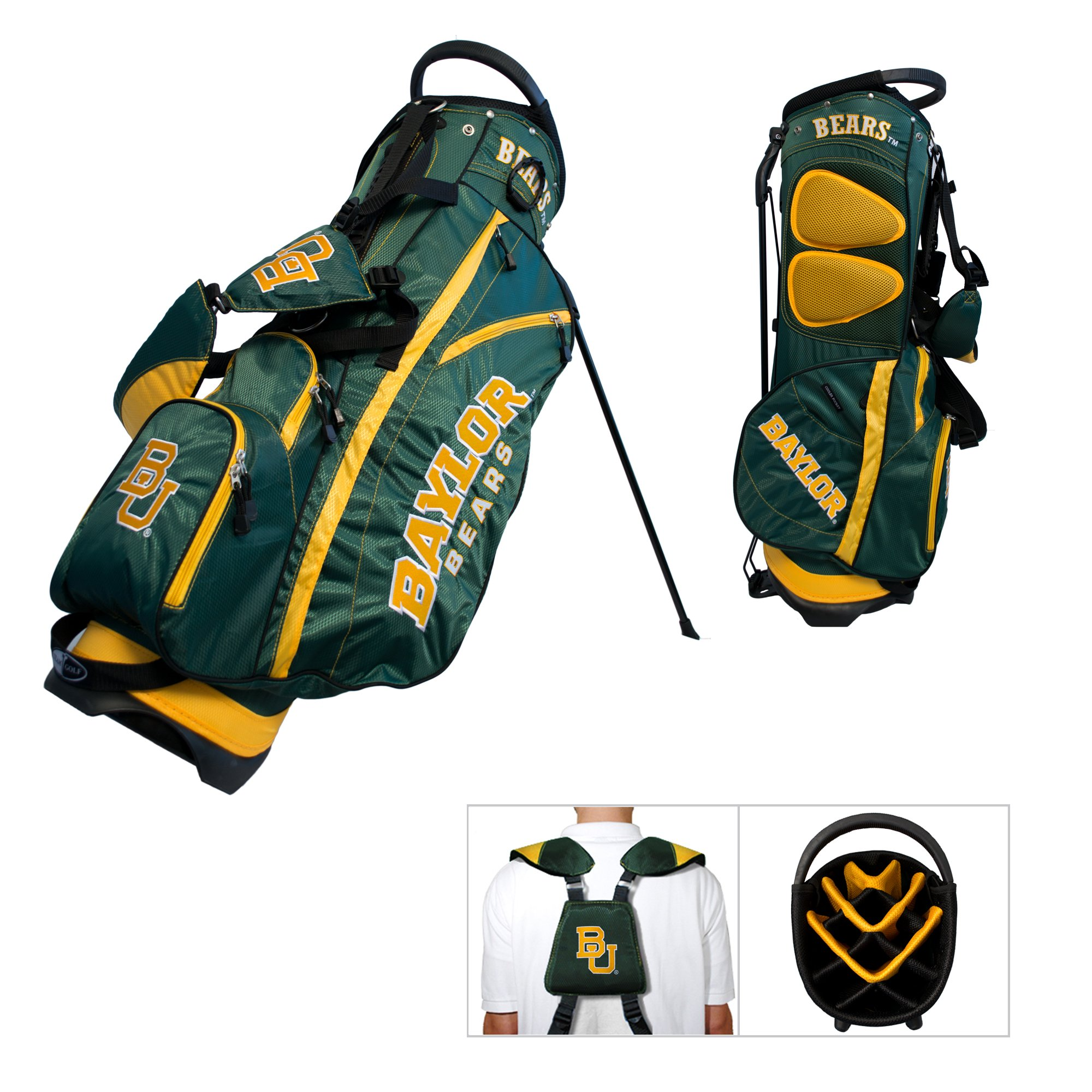 Baylor Bears Team Golf Fairway Lightweight 14-Way Top Golf Club Stand Bag by Team Golf (Image #1)