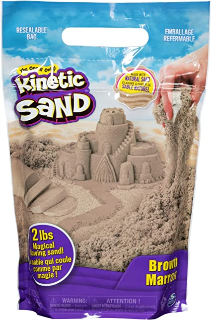 Brown Kinetic Sand 2-Pound Packet Sand Art