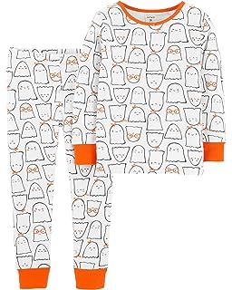 72e2048bb Amazon.com: Carter's Boys' Glow-in-the-dark Halloween Pajamas: Clothing