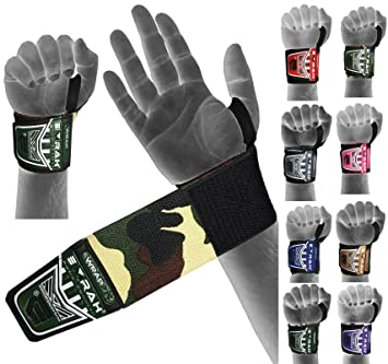 bf22f2e36952 EMRAH Weight Lifting Wrist Wraps Gym Straps Crossfit Bodybuilding Power Training  Workout Exercise Camo (Camo Green): Amazon.co.uk: Sports & Outdoors