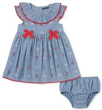 29288a58f Tommy Hilfiger Baby Girls 2 Pieces Dress Set, Blue Print 3-6 Months