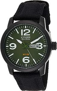 CITIZEN Mens Solar Powered Watch, Analog Display and Nylon Strap - BM8475-00X