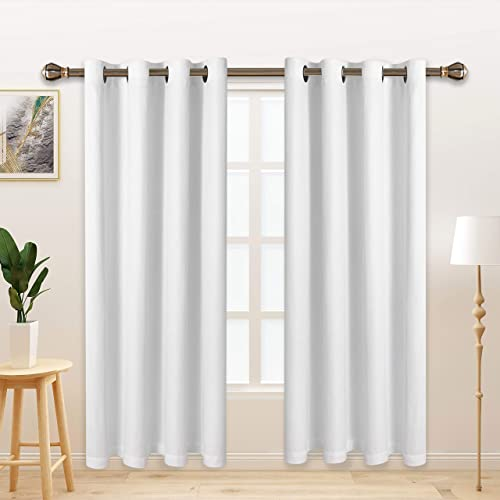 LORDTEX Burlap Linen Look Textured Blackout Curtains