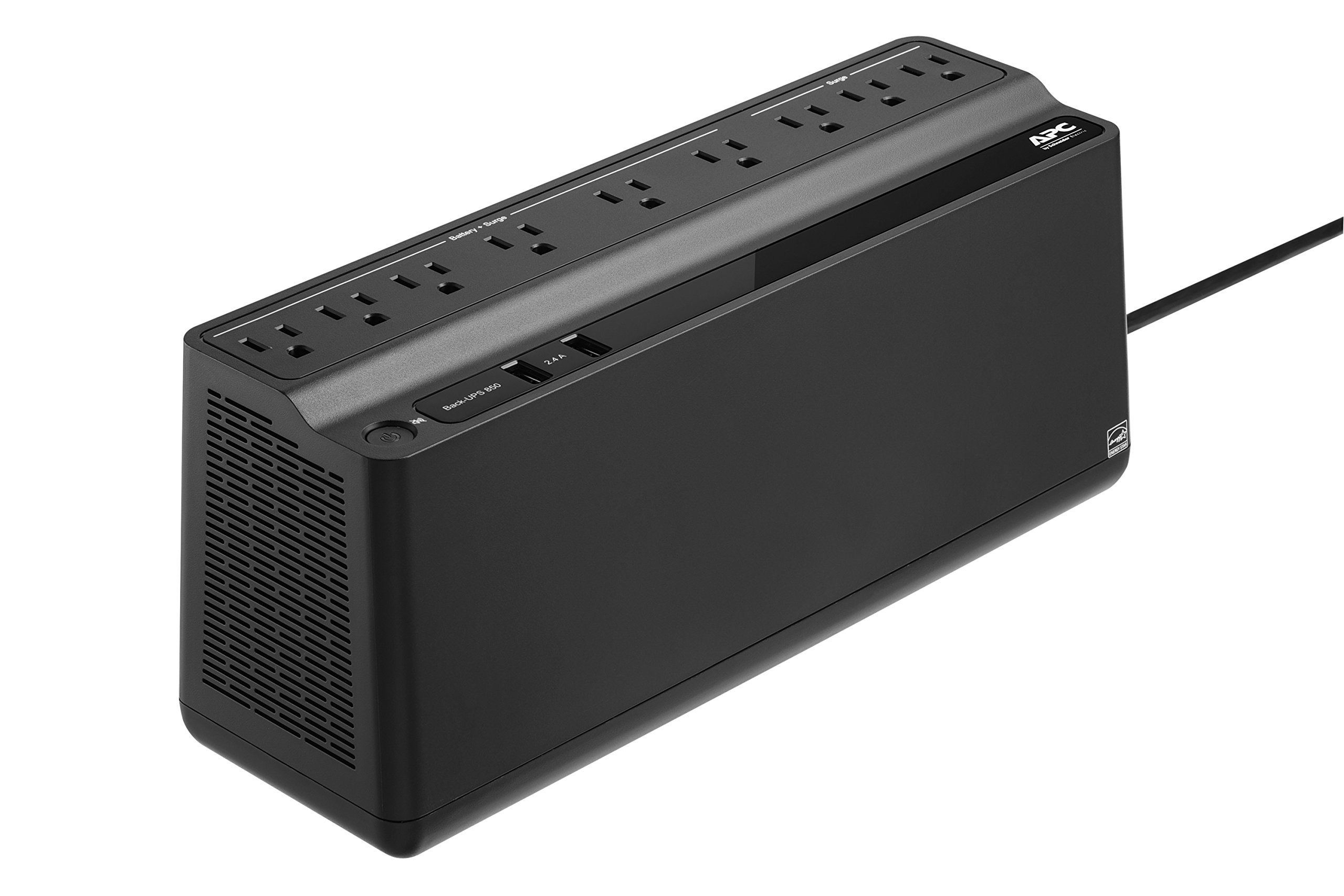 APC Back-UPS 850VA UPS Battery Backup & Surge Protector with USB Charging Ports (BE850M2) by APC