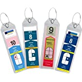Cruise Luggage Tag Holder Zip Seal & Steel - Royal Caribbean & Celebrity Cruise (4 Luggage Tag Holders)