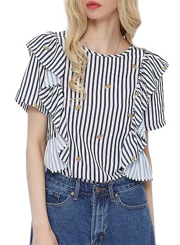 Futurino - Camisas - Cuello redondo - para mujer