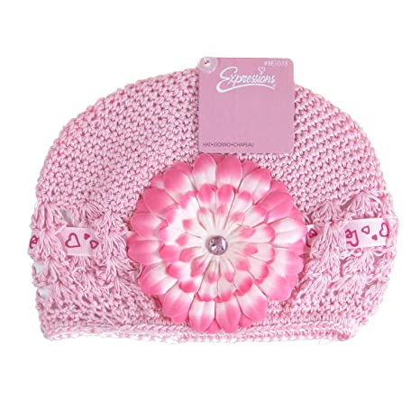 KNIT Beanie Hat Daisy Flower Superfine Crochet Hat For Baby Girl   Amazon.in  Baby 807a1c4cbfbb