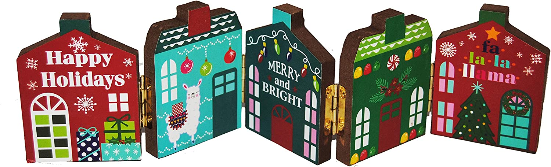 Changing Seasons Christmas Holiday Row Festive Tabletop Houses