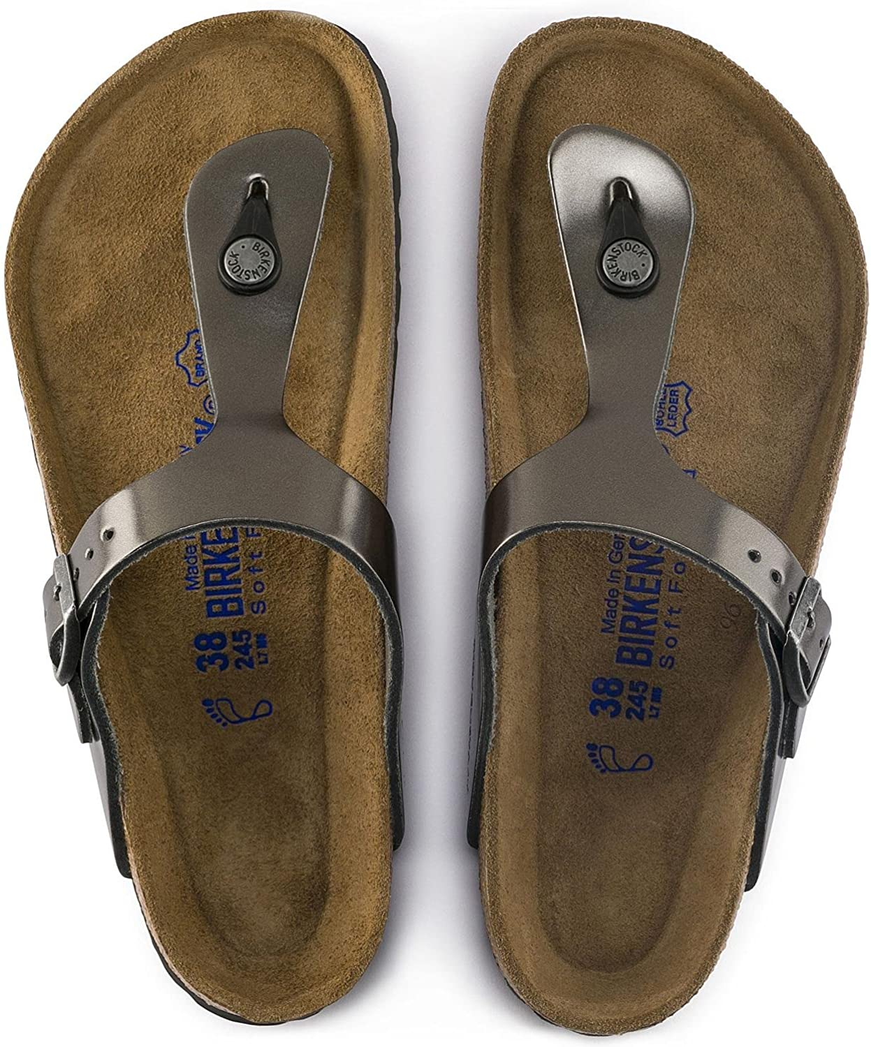 Birkenstock Gizeh Soft Tongs 1003676 Anthracite MéTALLIQUE
