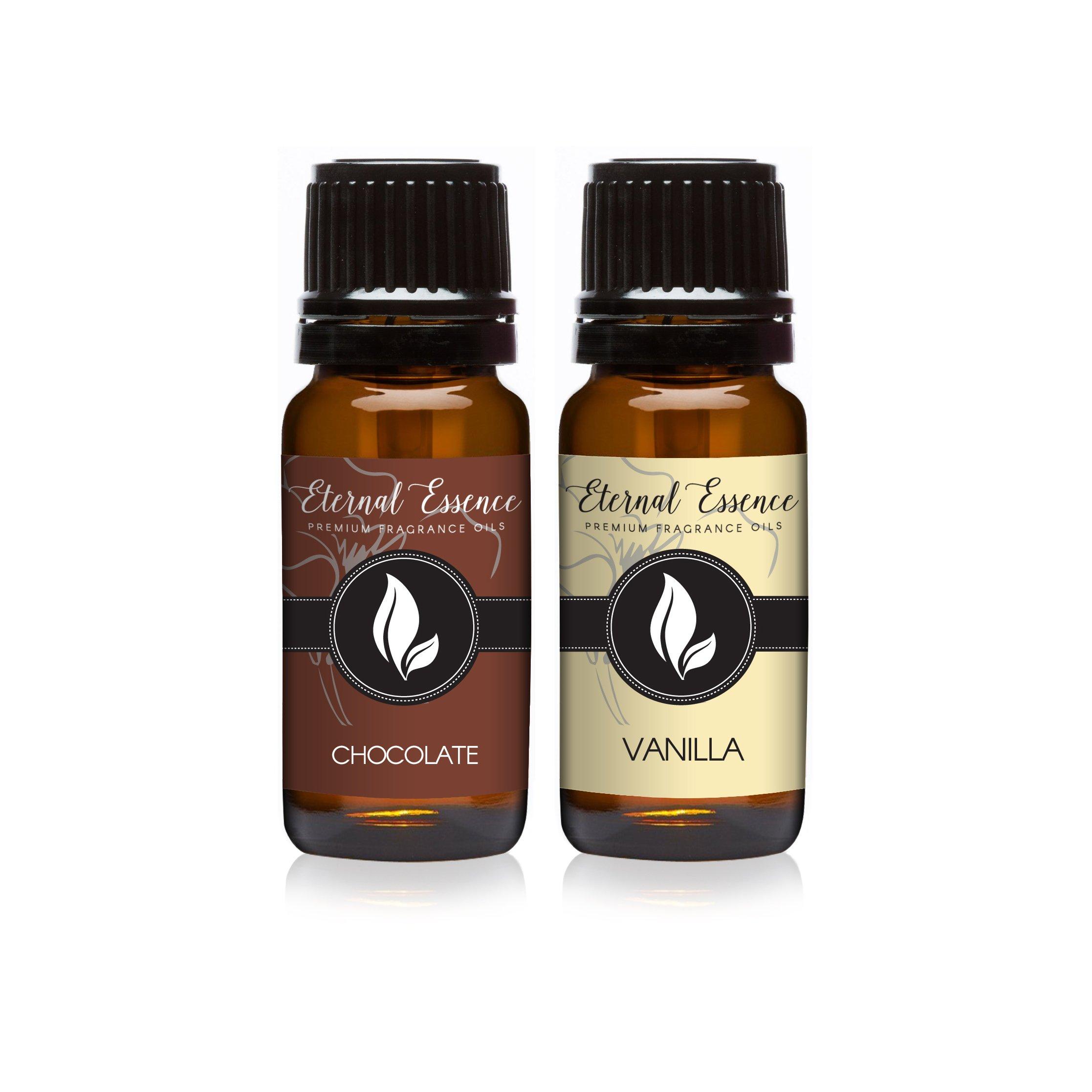Pair (2) - Chocolate & Vanilla - Premium Fragrance Oil Pair - 10ml