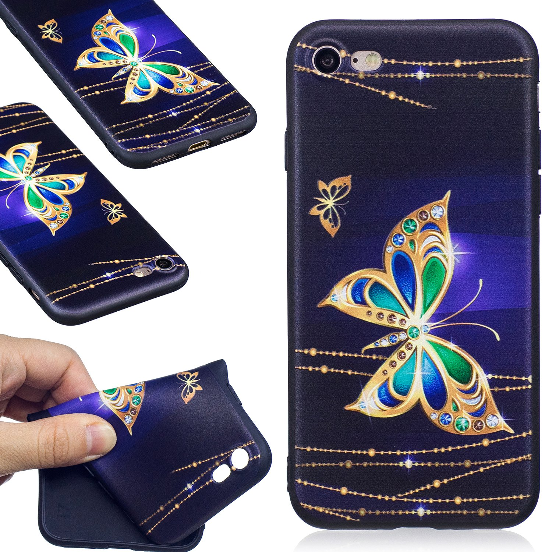 Ultra Slim Black Cover Case TPU Silicone Mignon Coque Couverture Arri/ère de Protection pour Apple iPhone 7//8 4.7 Pouces Misteem Noir /Étui pour iPhone 8//7 Dessin Anim/é Panda Oeil Ferm/é