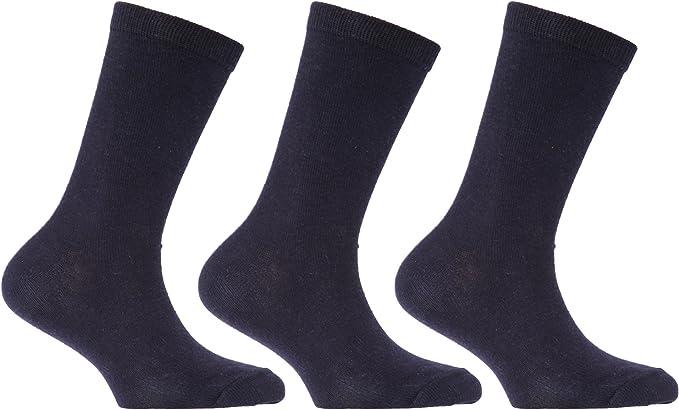 Severyn Calcetines de algodón lisos de uniforme escolar para niños ...