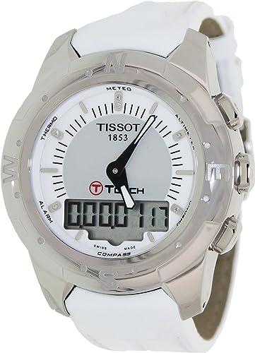 Tissot Reloj Analógico-Digital para Mujer de Cuarzo con Correa en Cuero T047.220.46.086.00: Tissot: Amazon.es: Relojes