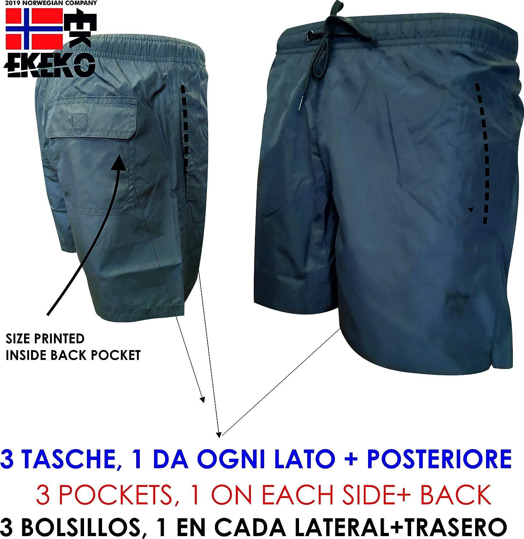 Toalla autoenfriante Ba/ñador con Malla Interior y Bolsillos Pack Ba/ñador y Toalla Microfibra EKEKO PORTIXOL