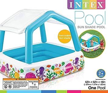 Amazon.com: Intex 57470EP - Parasol hinchable para piscina ...