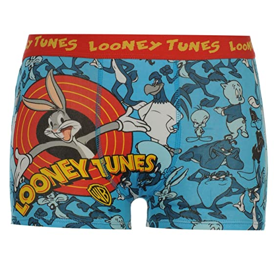 Warner Brothers Ninos Chicos Looney Boxer Shorts Ropa Interior Infantiles Azul 3 anos