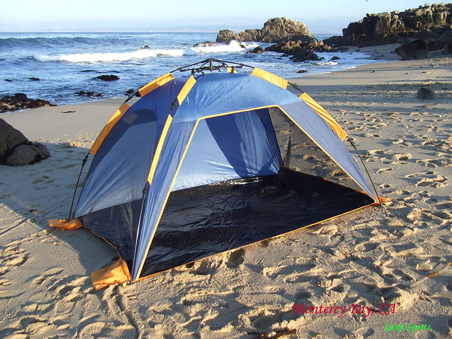 Amazon.com Genji Sports Instant Push Up Beach Tent Sun Shelter Sports u0026 Outdoors & Amazon.com: Genji Sports Instant Push Up Beach Tent Sun Shelter ...