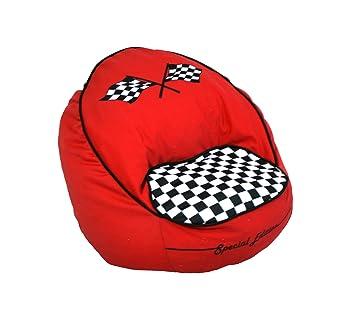 Newco Kids Race Car Bean Chair, Red