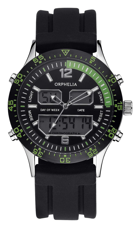 Caballeros-Reloj analógico Orphelia - Silicona Cuarzo Digital