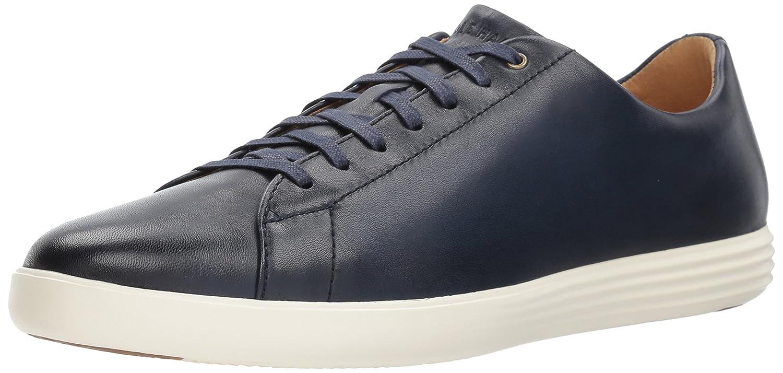 Navy Leather Burnished Cole Haan Men's Grand Crosscourt II Sneaker