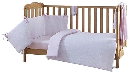 Clair de lune lenzuola per culla letto set rosa stelle e