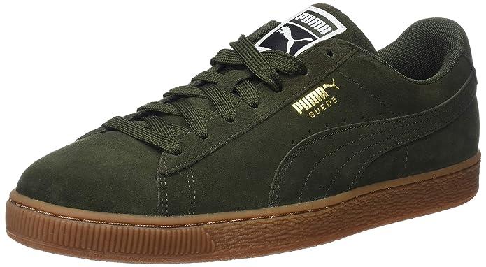 Puma Suede Classic Sneaker Damen Herren Unisex Wildleder Grün (Forest Night)