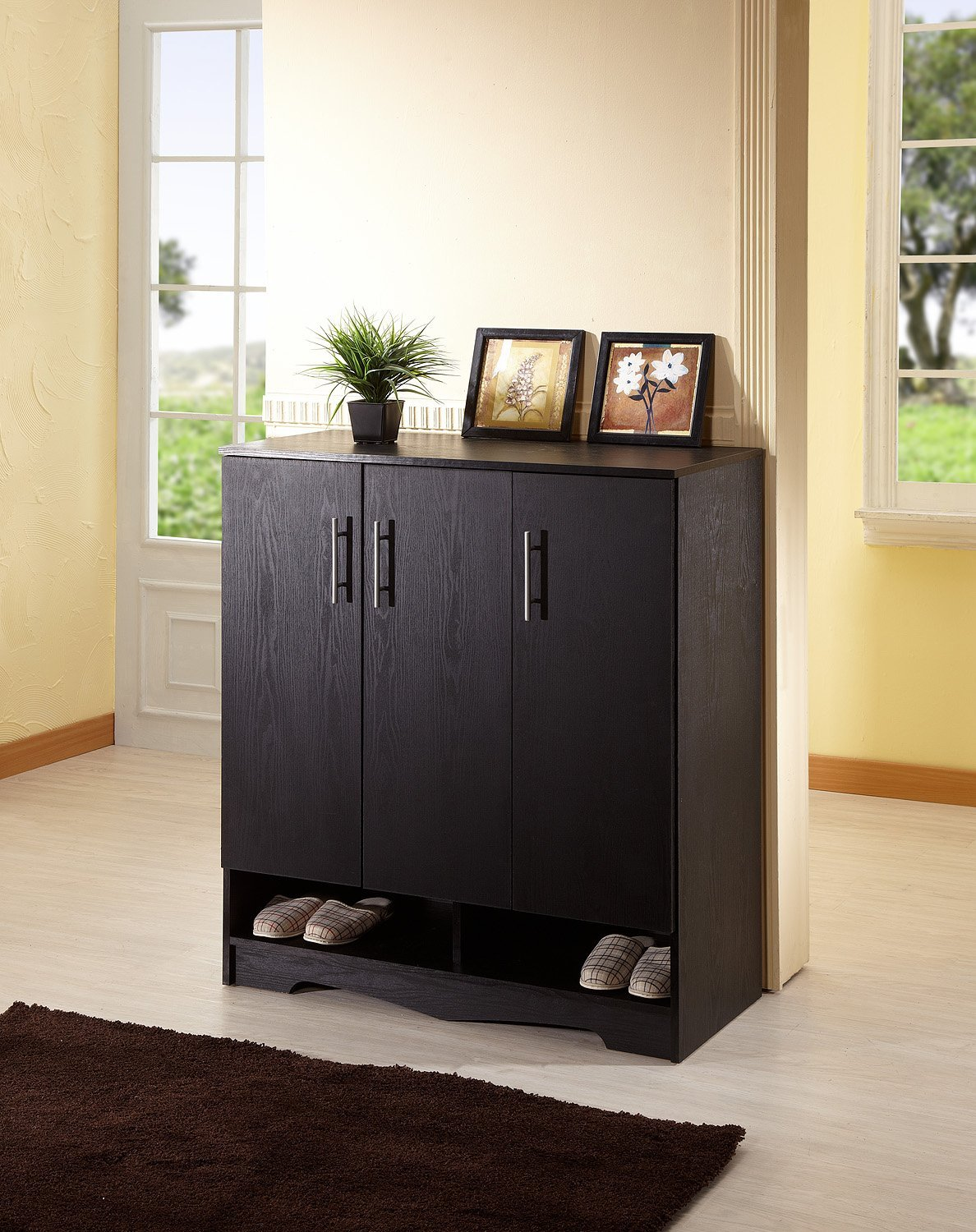 Amazon.com: IoHOMES Westwood 7 Shelf Shoe Cabinet, Black: Kitchen U0026 Dining