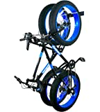 StoreYourBoard BLAT Bike Fat Tire Wall Rack, Holds 2 Bikes, Home and Garage Storage Hooks, Heavy-Duty Solid Metal Max…