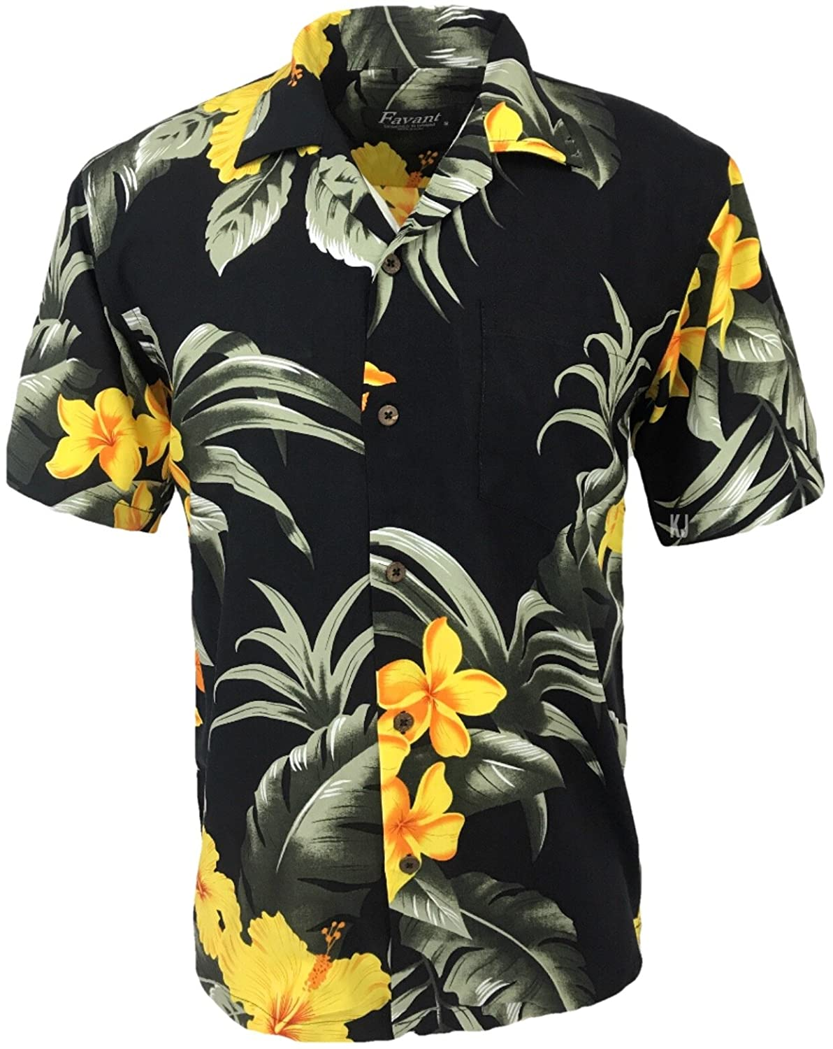 3e00c077 Floral Print Design 100% Rayon, High Quality Fabric Matching Pattern Pocket  Short Sleeve, Loose Fit Genuine Coconut Buttons Designed Locally in Hawaii  ...
